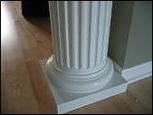 This is one of the completed columns after the repairs.
